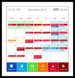 Employee Intranet Calendar