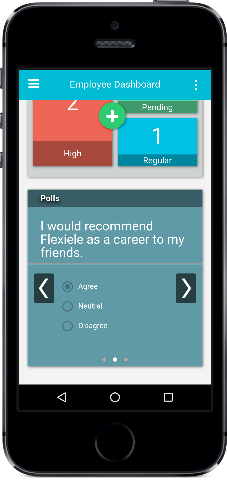 mobile employee intranet polls